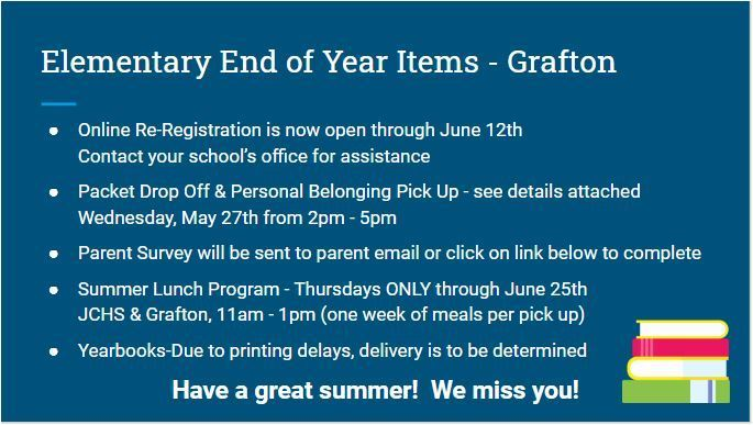 Grafton - End of Year Items for Parents