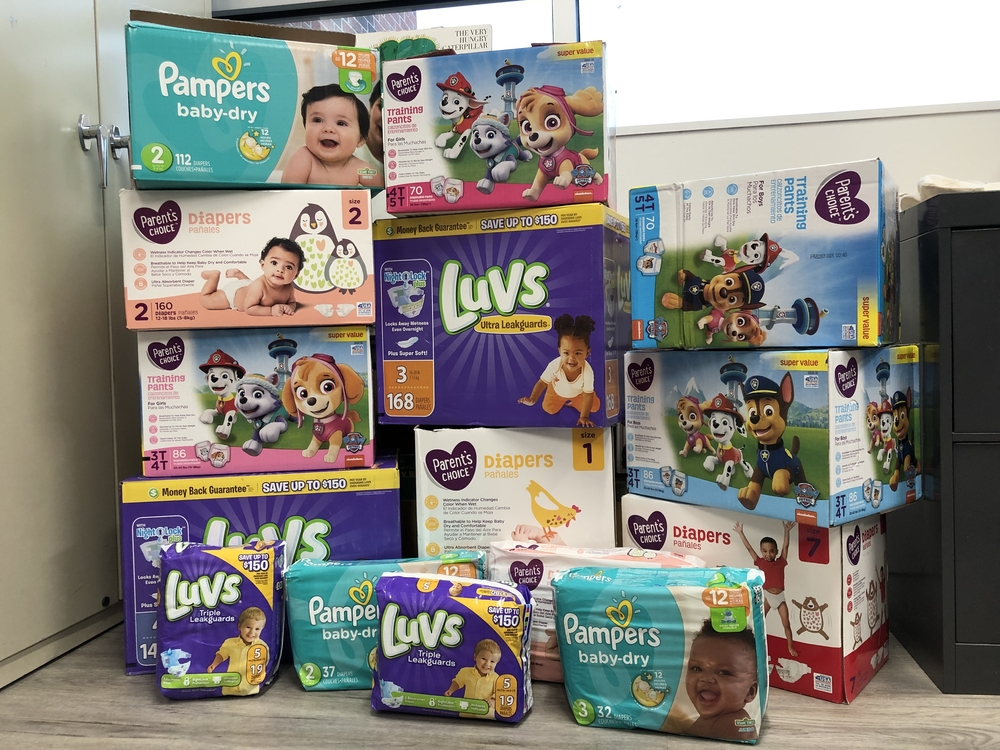 Birth-To-Three receives Diaper Donations
