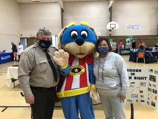 Safety Pup at the JCH Health Fair