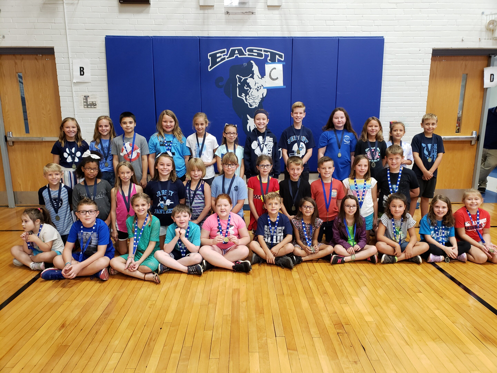 East Elementary September Character Award Recipients.
