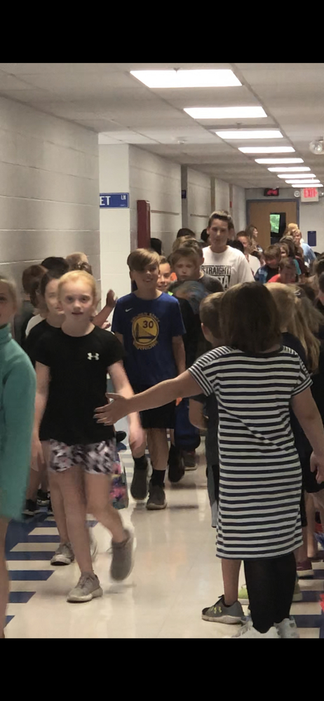 Fourth Grade Students Enjoy One Last Walk Through The Halls at East Elementary.