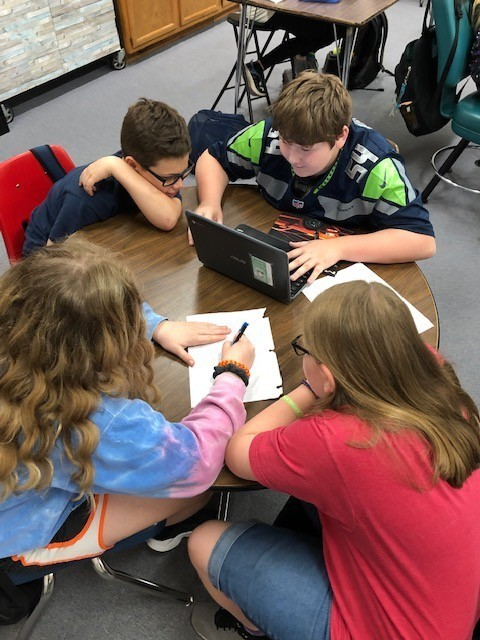 5th Grade students Create Digital Breakouts