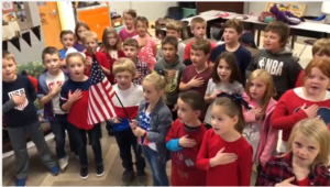 Mrs. Campbell's 2nd grade class  appreciates our Veterans.