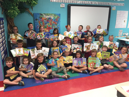 Mrs. DeSherlia's class is excited about their books!