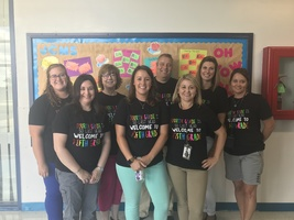 The 5th Grade teachers are excited to meet their new students.