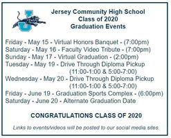 JCHS Graduation Events