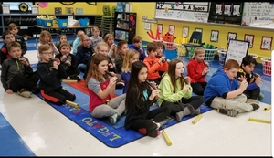 Song Flutes in Music Class at East Elementary