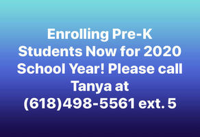 Enrolling Pre-K Students Now!