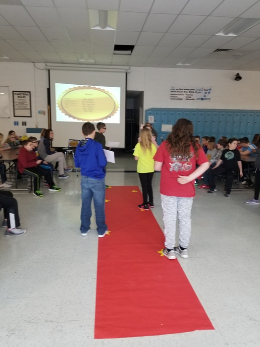 The students created the Google Slides presentation and developed the plan for the presentation of character awards.